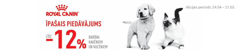 Royal Canin izlasei kaķēniem un kucēniem -12 %